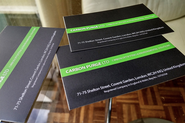 Carbon Purge Business Cards